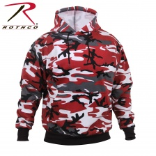 Толстовка Rothco Camo Pullover Hooded Sweatshirt red