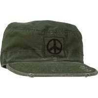 Кепка Rothco Olive Drab Rip-Stop Vintage Fatigue Cap with Black Peace