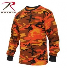 Футболка с длинным рукавом Rothco Long Sleeve Colored Camo T-Shirt savage orange