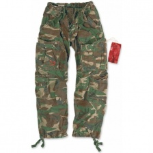 Штаны SURPLUS AIRBORNE VINTAGE TROUSERS WOODLAND CAMO