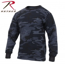 Футболка с длинным рукавом Rothco Long Sleeve Colored Camo T-Shirt midnight blue
