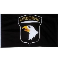 Флаг Rothco 101st Airborne Division Black US Army