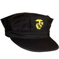 Кепка Rothco Black USMC Utility Cap with Gold EGA