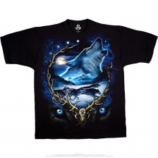 Футболка Liquid Blue  Wolf Run Black T-Shirt