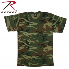 Футболка Rothco  USA Made Woodland Camouflage T-Shirt