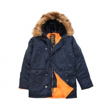SLIM FIT N-3B PARKA REPLICA BLUE/ORANGE искуственный мех