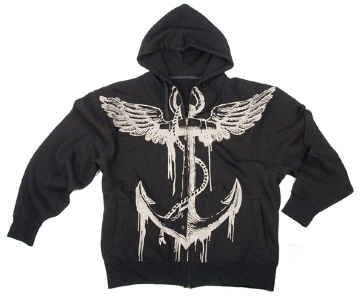 Толстовка Rothco Vintage  Black/Anchor  Hooded Sweatshirt фото 1
