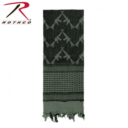 Тактический шарф  Rothco Crossed Rifles Shemagh Tactical Scarf фото 1