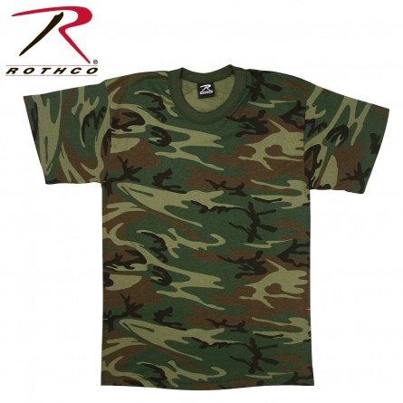 Футболка Rothco  USA Made Woodland Camouflage T-Shirt фото 1