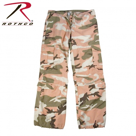 Штаны женские  Rothco Womens Camo Vintage Paratrooper Fatigue Pants фото 1